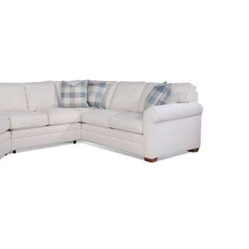 Bedford RSF Corner Sofa in fabric 862-93 B with pillow fabric 136-54 J and Havana finish