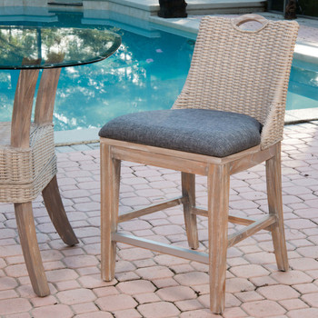 Belize Counter Chair in Rustic Driftwood finish