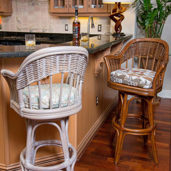 Bridgeport Barstool in Rustic Driftwood and Sienna finish