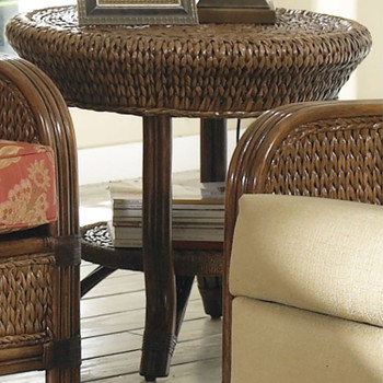 Callaway End Table With Glass Top