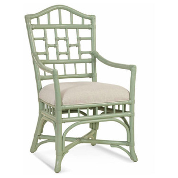 Chippendale Dining Arm Chair in fabric '0851-93 A' and Seamist finish