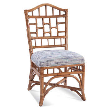 Chippendale Dining Side Chair in fabric '349-93 B' and Havana finish