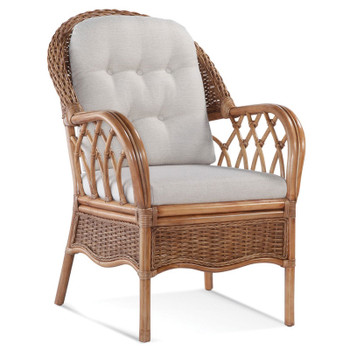 Everglade Dining Armchair in fabric '0307-94 B' and Honey finish