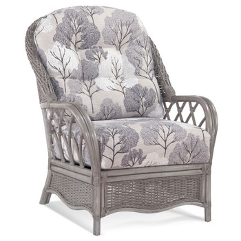 Everglade Lounge Chair in fabric '0412-85 H' and Driftwood finish