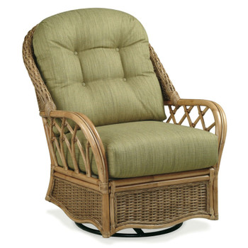 Everglade Swivel Glider in Honey finish