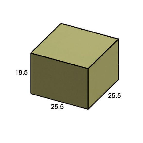 """Furniture Cover Bainbridge 25"""" x 25"""" Square Ottoman"""
