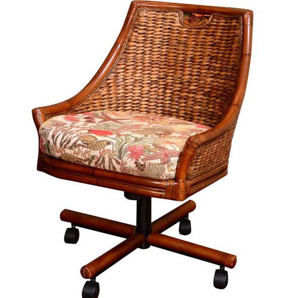 Havana Tilt Swivel Caster Chair in Sienna finish