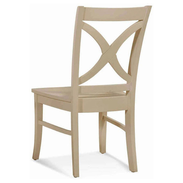 Hues Dining Side Chair with Wood Seat in Cottage White finish
