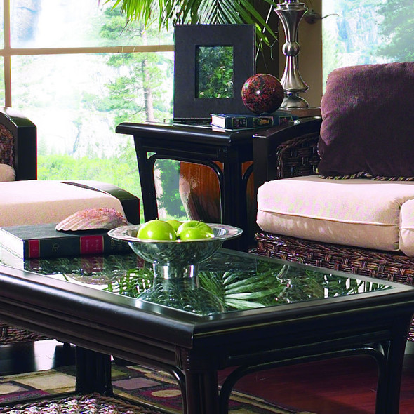 Innisbrook End Table With Glass Top