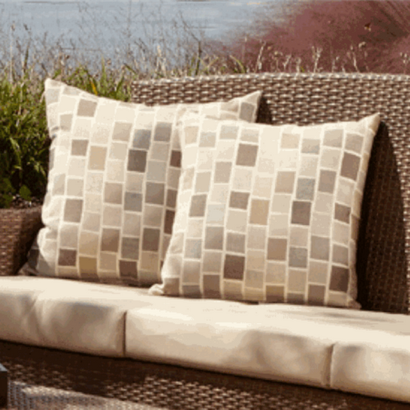 """Sunbrella 2 pc. 18"""" Outdoor Throw Pillows"""