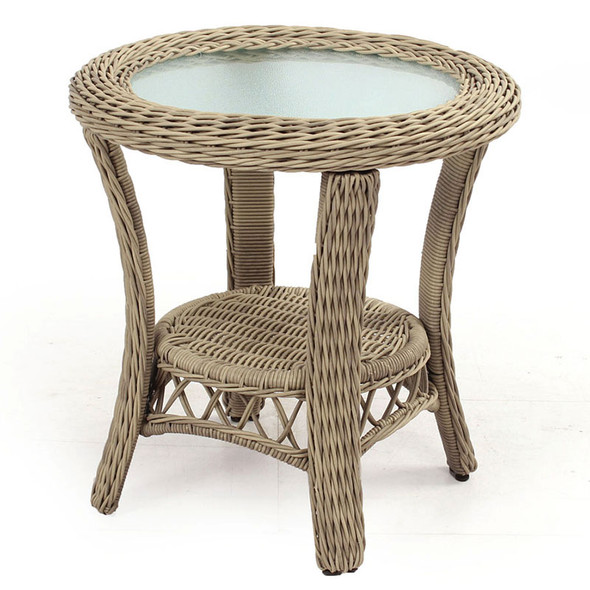 Arcadia Outdoor End Table with Glass Top