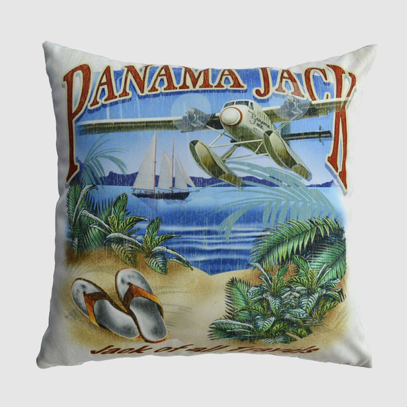 """Jack of all Travels 18"""" Throw Pillow"""