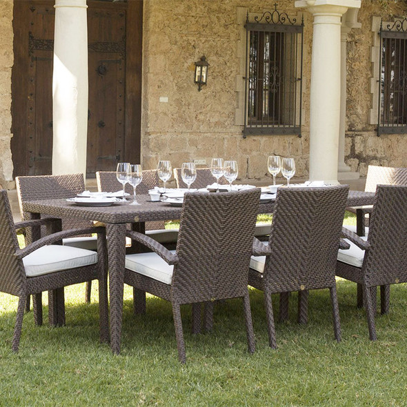 Soho Outdoor 9 piece Dining Set with armchairs