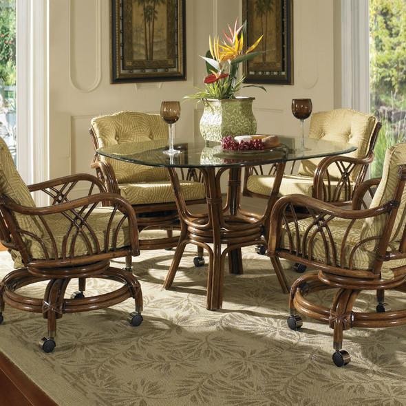 Orchard Park 5 piece Dining Set with Caster Dining Chairs