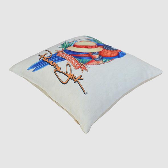 """Panama Parrot 18"""" Throw Pillow"""