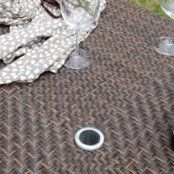 "Soho Outdoor Square 40"" Dining Table - umbrella hole"