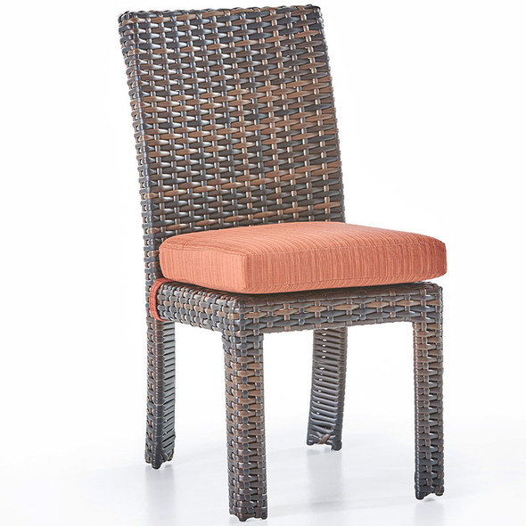 Saint Tropez Outdoor Dining Side Chair in Tobacco finish