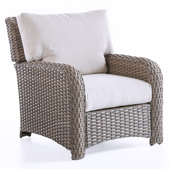 Saint Tropez Outdoor Lounge Chair in Stone finish