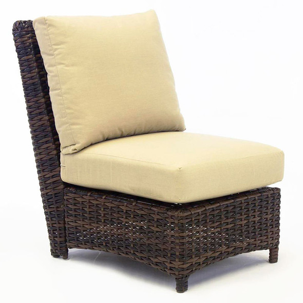 Saint Tropez Outdoor Sectional Armless Chair in Tobacco finish