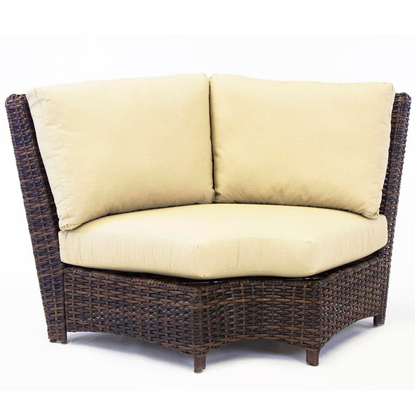 Saint Tropez Outdoor Sectional Wedge Corner in Tobacco finish