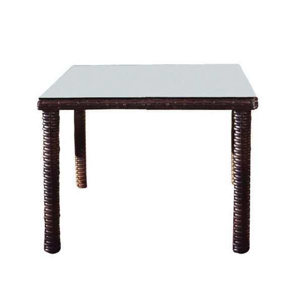 Saint Tropez Outdoor Square Dining Table in Tobacco finish