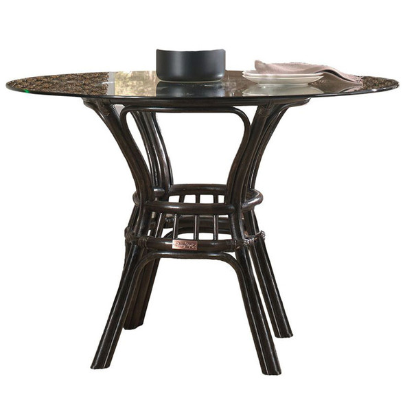 """Sanibel 42"""" Round Dining Table with Glass Top"""