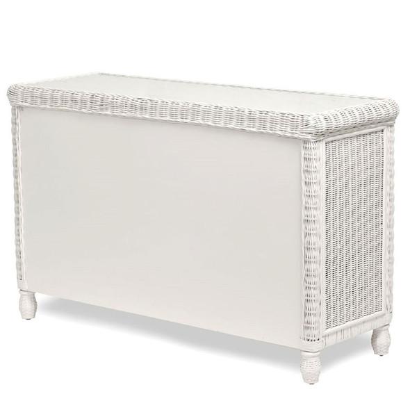 Santa Cruz 6 Drawer Dresser with Glass Top in White finish