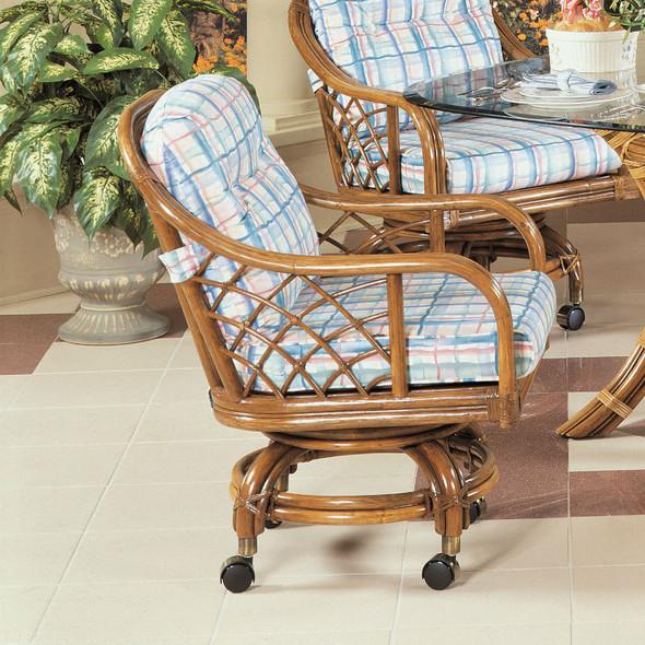 Santa Cruz Swivel Rock Dining Chair with Casters