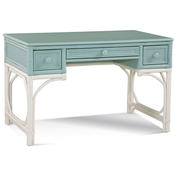 Summer Retreat Writing Desk in Seamist and Frost White finishes