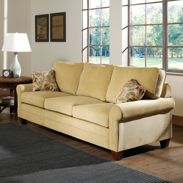 The Highland Sofa comes in your choice of feet, fabric, and finish color.