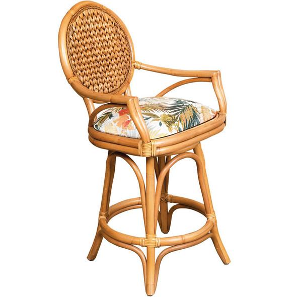 Bahama Swivel Counterstool in Antique Honey finish