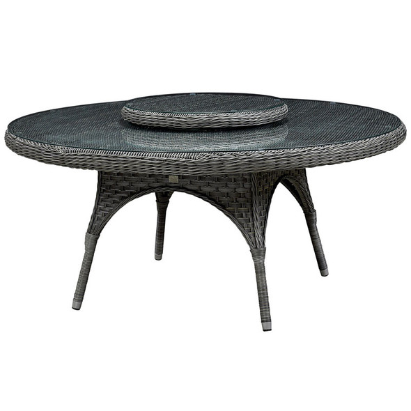 """Lorca Outdoor 67"""" Table with Lazy Susan"""