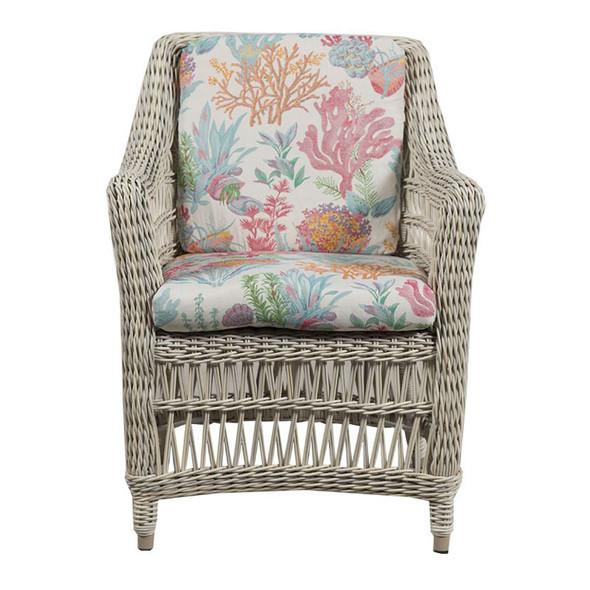 Paddock Outdoor Arm Chair - Seas Fiesta Fabric - front