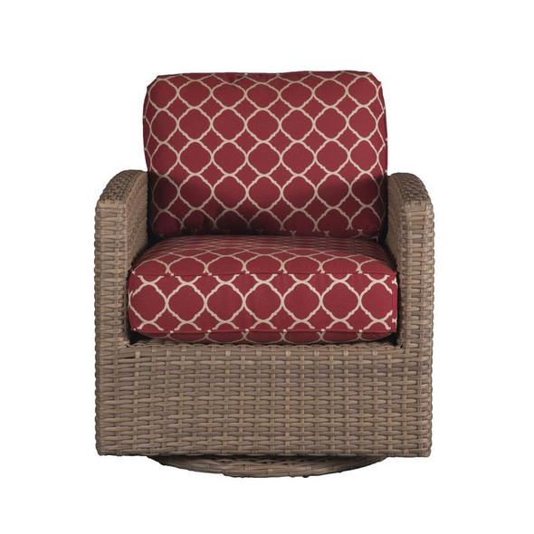 Lodge Outdoor Swivel Glider - Accord Crimson Fabric - front