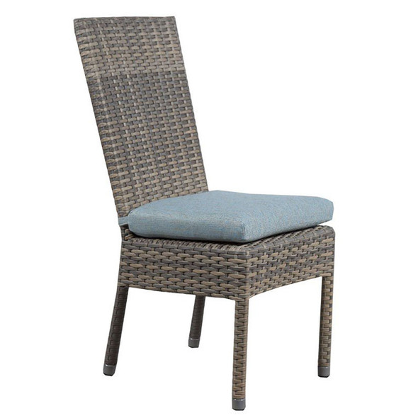 Mambo Outdoor Dining Chair - Adena Azure Fabric