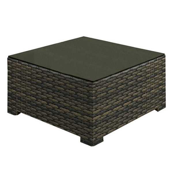 Lakeside Outdoor Coffee Table with glass top