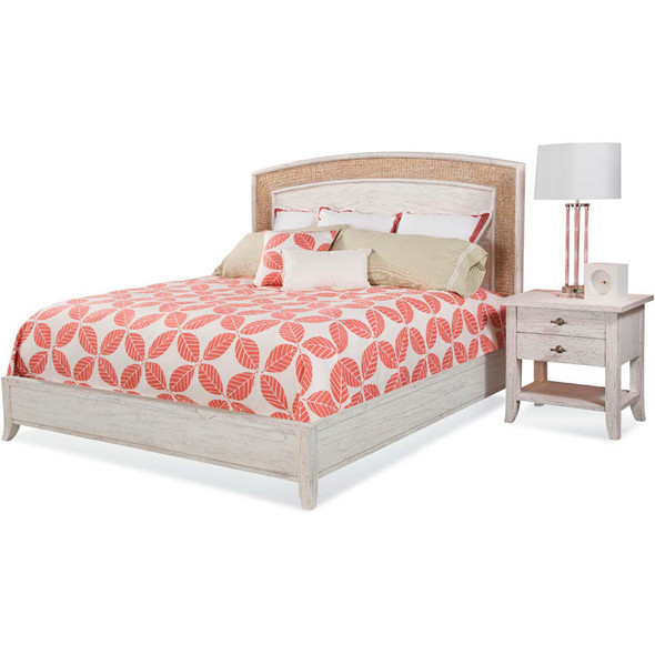 Fairwind 2 piece Arched Seagrass Bedroom Set