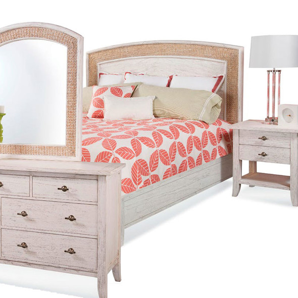Fairwind 4 piece Arched Seagrass Bedroom Set