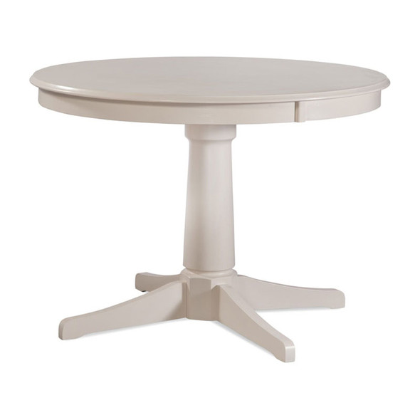 """Hues 42"""" Round Dining Table in Cottage White finish"""