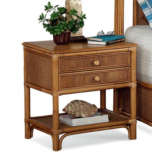 Summer Retreat Two Drawer Nightstand in Honey finish
