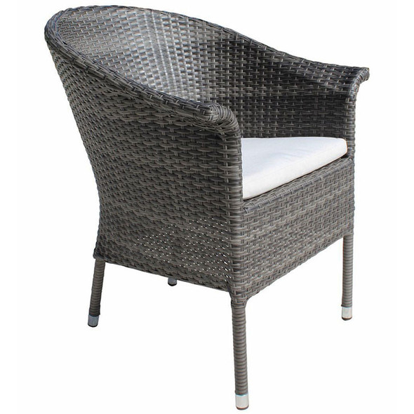 Ultra Outdoor Woven Armchair with outdoor cushion in a 100% polyester fabric
