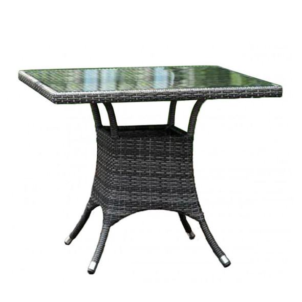 """Ultra Outdoor 36"""" Square Dining Table with Glass"""