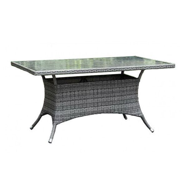 """Ultra Outdoor 36"""" x 60"""" Rectangular Dining Table with Glass"""