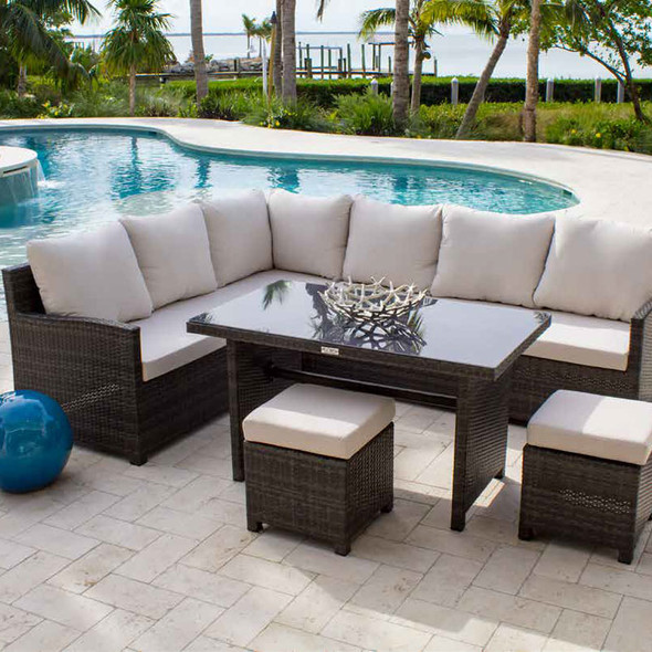 Ultra 5 piece Outdoor Dining Sectional Set