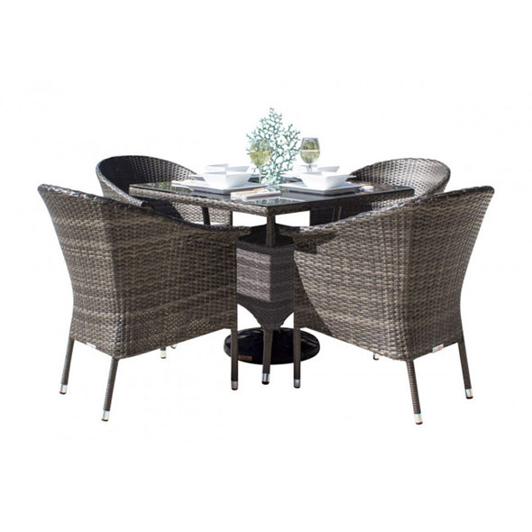 Ultra Outdoor 5 peace Dining Set with Arm Chairs