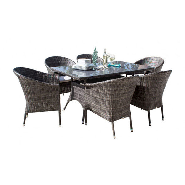 Ultra Outdoor 7 piece Rectangular Dining Set