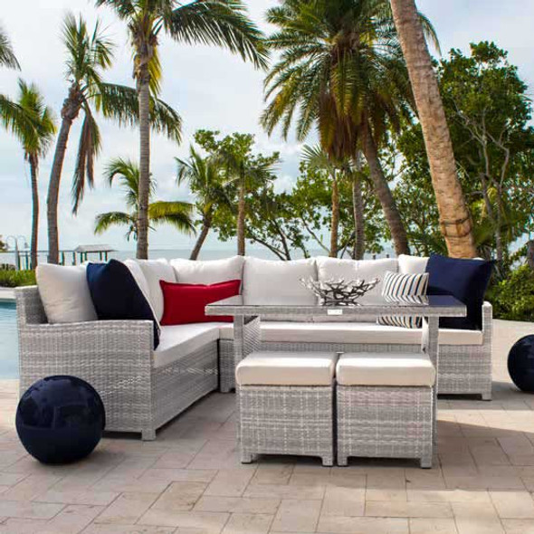 Athens 5 piece Outdoor Sectional Dining Set