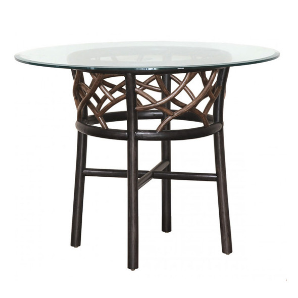 """Trinidad 42"""" Round Dining Table with Glass Top"""