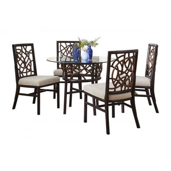 Trinidad 6 Piece Dining Set with Glass Top