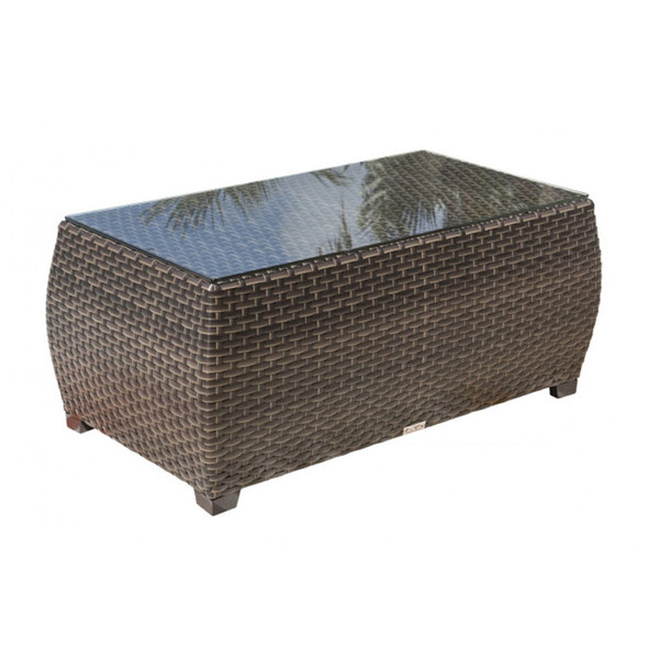 Fiji Outdoor Coffee Table with Glass